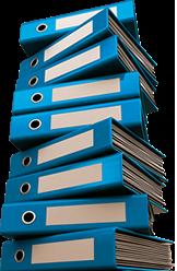 Raccoglitori documenti blu