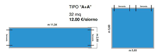 """Tipo """"A+A"""" - 12,00 €/giorno"""