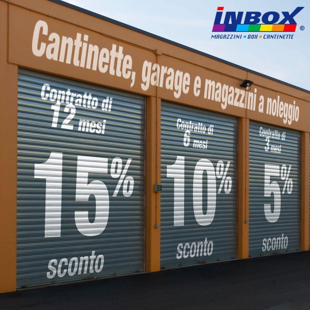 InBox Storage promozione: sconti fino al 15%