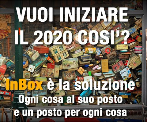 InBox è la soluzione per tutti i problemi di spazio