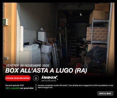 InBox Storage - Aste al buio - Venerdì 20 novembre 2020